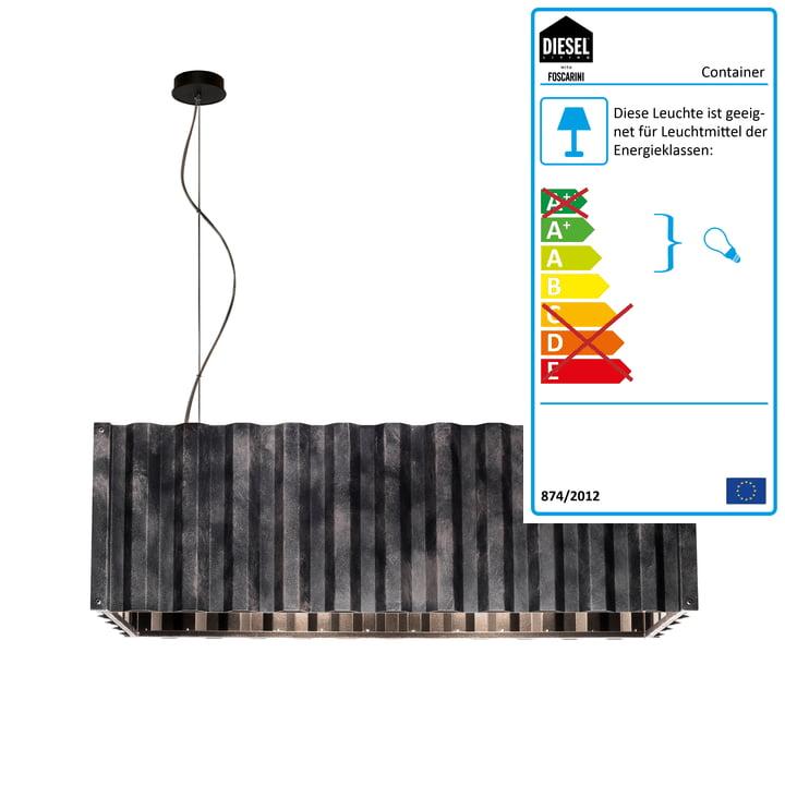 Container Pendelleuchte von Diesel Living in schwarz