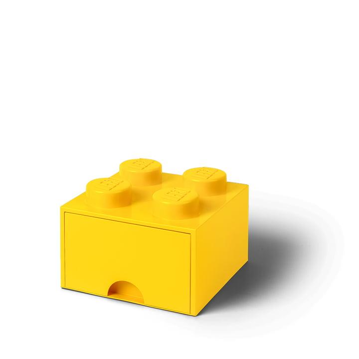 Die Lego - Brick Drawer 4 Aufbewahrungsbox in gelb