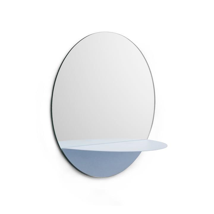 Normann Copenhagen - Horizon Spiegel, rund, blau