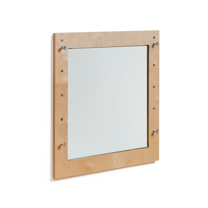 Ambivalenz - Fläpps Spiegel, 40 x 40 cm, Birke