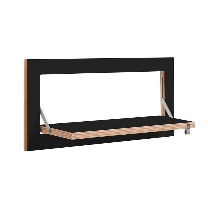 Ambivalenz - Fläpps Regal, 60 x 27 cm, 1 Regalboden, schwarz