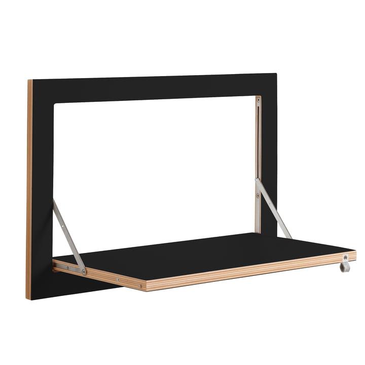 Ambivalenz - Fläpps Regal, 60 x 40 cm, 1 Regalboden, schwarz