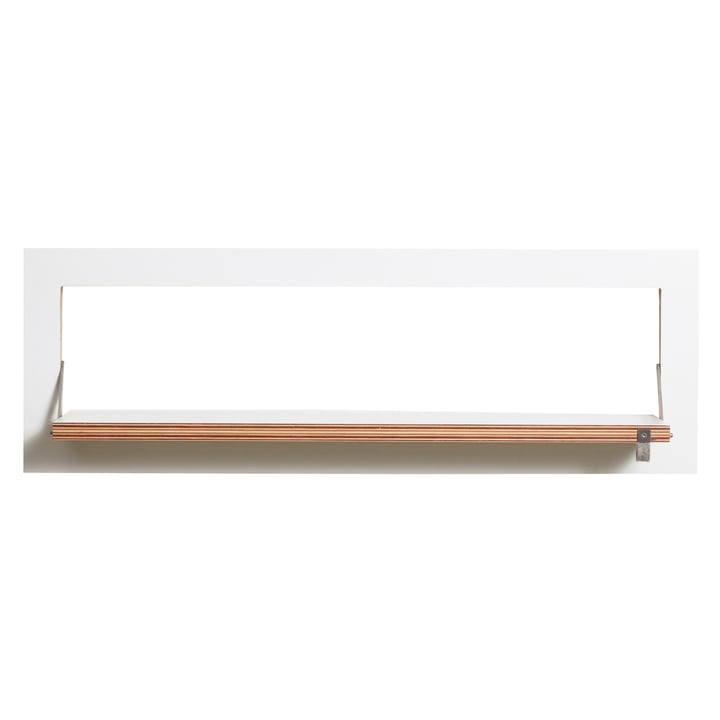 Ambivalenz - Fläpps Regal, 80 x 27 cm, 1 Regalboden, weiß