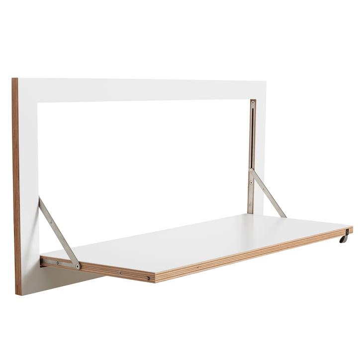Ambivalenz - Fläpps Regal, 80 x 40 cm, 1 Regalboden, weiß