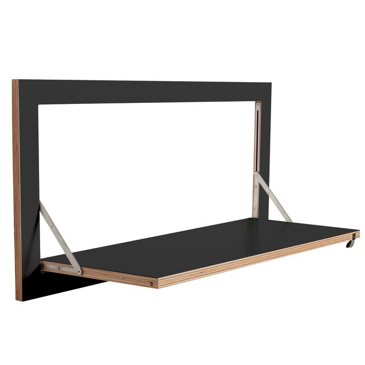 Ambivalenz - Fläpps Regal, 80 x 40 cm, 1 Regalboden, schwarz