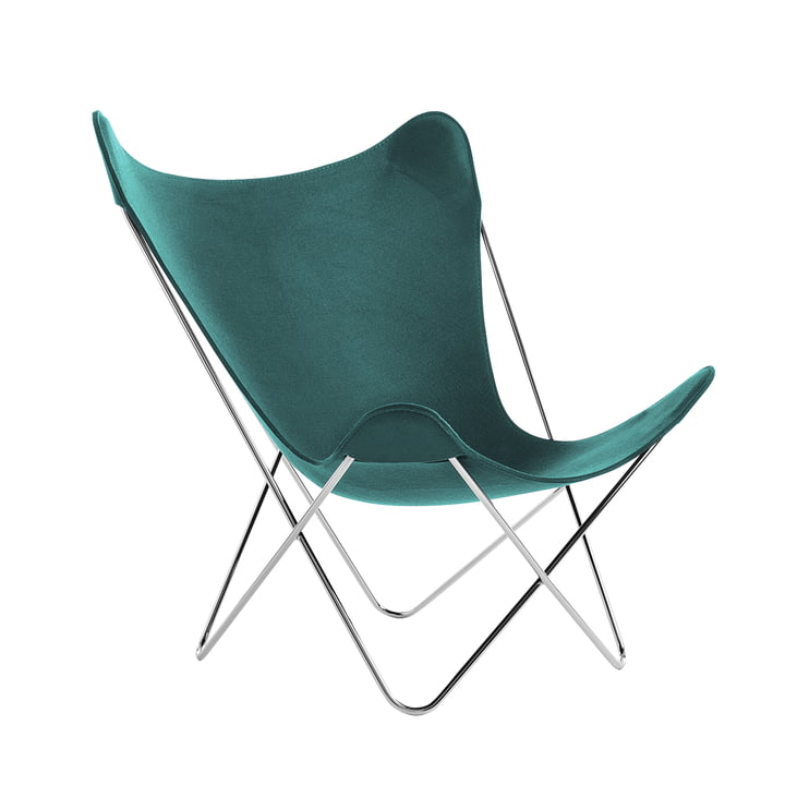 Knoll - Butterfly Chair, Chromgestell / grün (Jubiläumsedition)