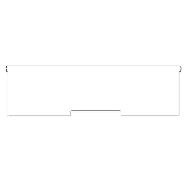 Plattenbau, weiß - Frontklappe 62cm, Fachhöhe: 15cm