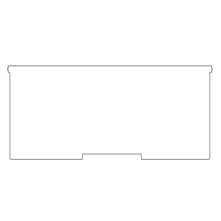 Plattenbau, weiß - Frontklappe 62cm, Fachhöhe: 25cm