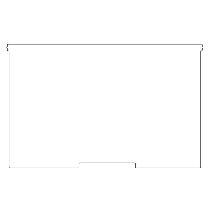 Plattenbau, weiß - Frontklappe 62cm, Fachhöhe: 35cm