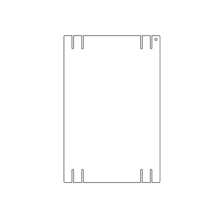 Plattenbau, weiß - Seitenwand 22cm, Fachhöhe: 40cm