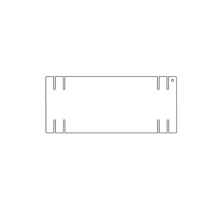 Kaether & Weise - Plattenbau, weiß - Seitenwand 33 cm, Fachhöhe: 15 cm