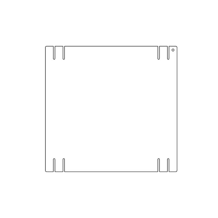 Plattenbau, weiß - Seitenwand 33cm, Fachhöhe: 35cm