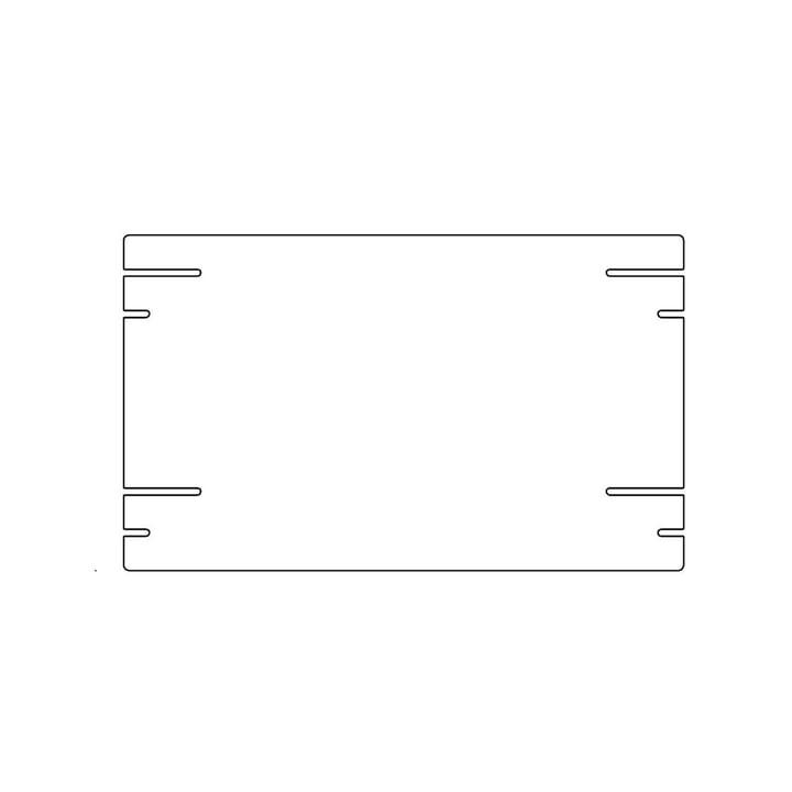Plattenbau, weiß - Einlegeboden 40cm (22cm tief)