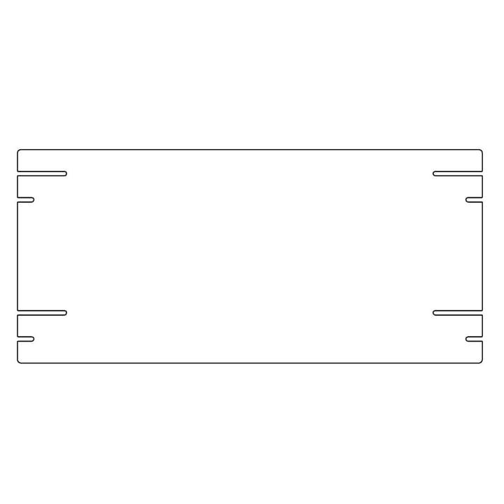 Plattenbau, weiß - Einlegeboden 62cm (22cm tief)
