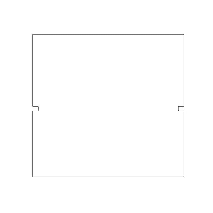 Plattenbau, weiß - Rückwand 40cm, Fachhöhe: 40cm