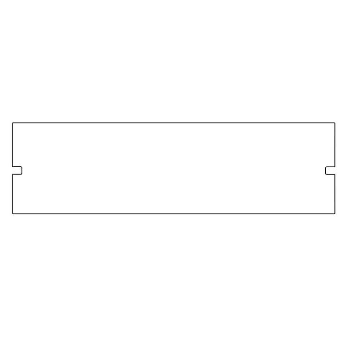 Plattenbau, weiß - Rückwand 62cm, Fachhöhe: 15cm