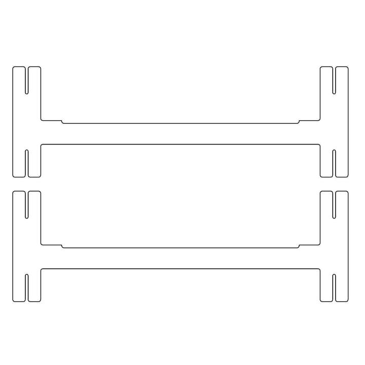 Plattenbau, weiß - Mittel-Traverse 62cm (2er Set)