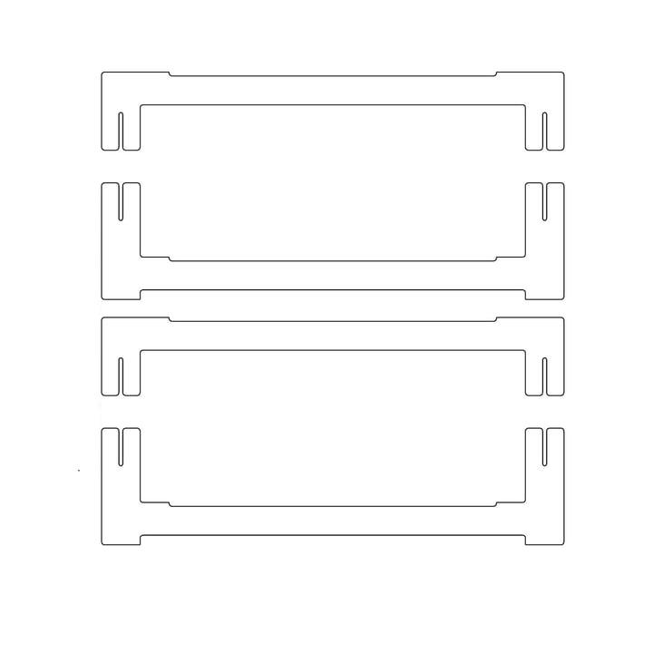 Plattenbau, weiß - Abschluß-Traverse 40cm (2 oben, 2 unten)