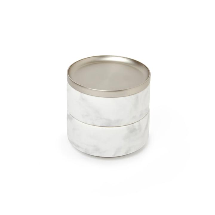 Tesora Aufbewahrung von Umbra in Nickel / Marmor weiß