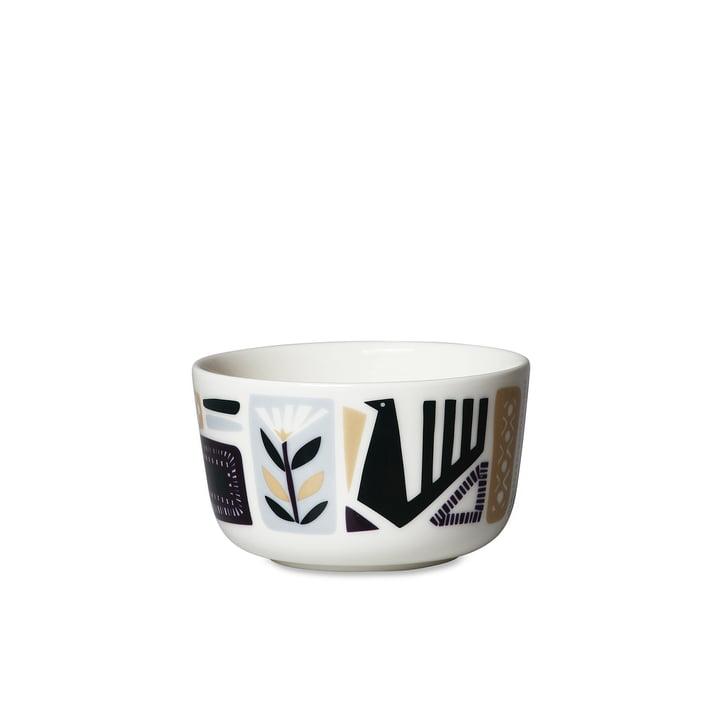 Svaale Schale 250 ml, weiß / dunkelgrün / pflaume von Marimekko