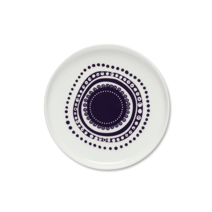 Oiva Svaale Teller Ø 13.5 cm von weiß / pflaume von Marimekko
