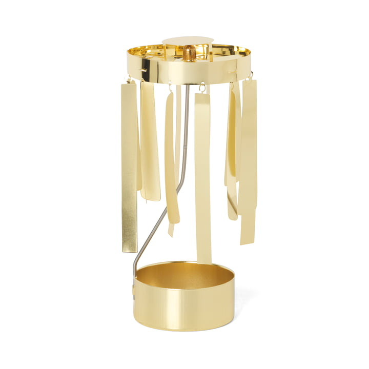 ferm Living - Tangle Spinning Teelichthalter, gold