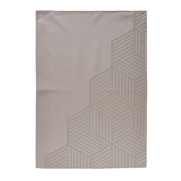 Das Zone Denmark - Geschirrtuch Hexagon, 70 x 50 cm, taupe braun