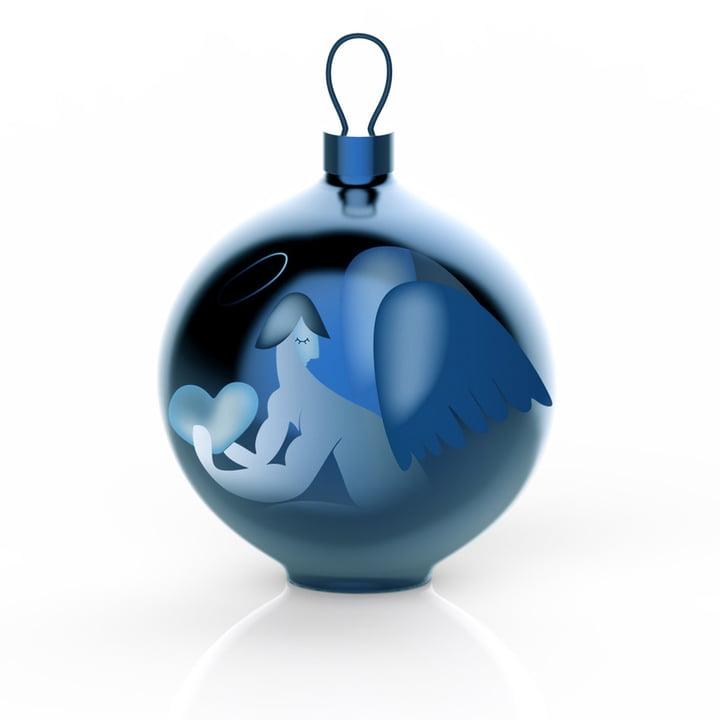 Die Alessi - Blue Christmas Christbaumkugeln, Engel