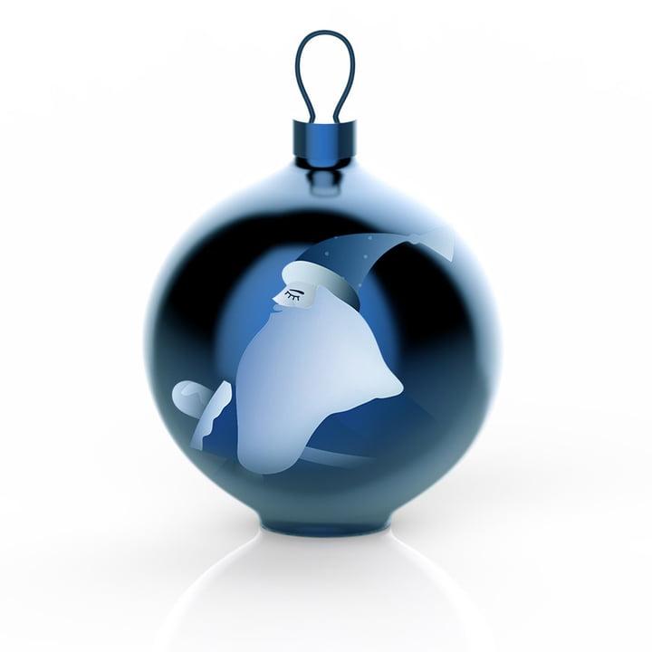 Die Alessi - Blue Christmas Christbaumkugeln, Weihnachtsmann