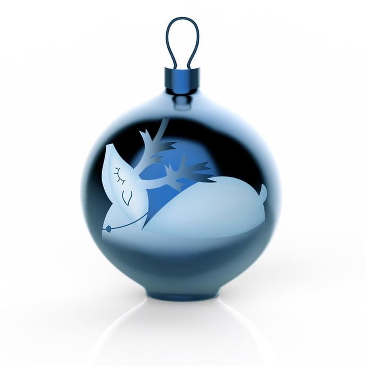 Die Alessi - Blue Christmas Christbaumkugeln, Rentier