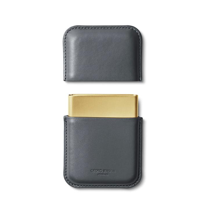 Shades Visitenkartenhalter in grau / gold von Georg Jensen