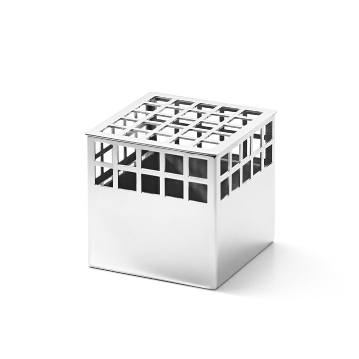 Matrix Cube Vase small aus Edelstahl von Georg Jensen