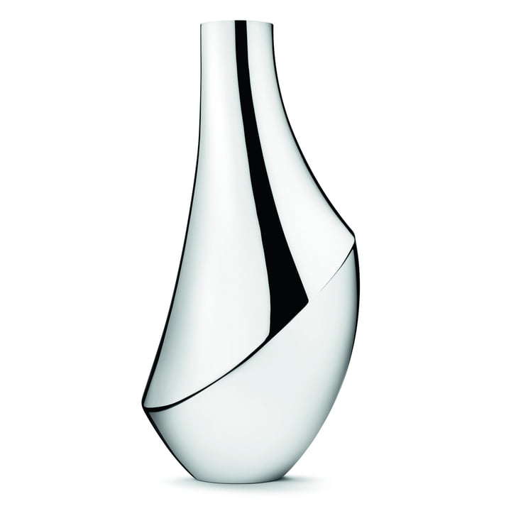 Georg Jensen - Flora Vase, Ø 27.5 x H 50 cm, Edelstahl