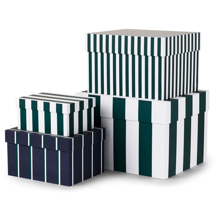 Tivoli - Candy Stripe Boxen (4er Set), garden green