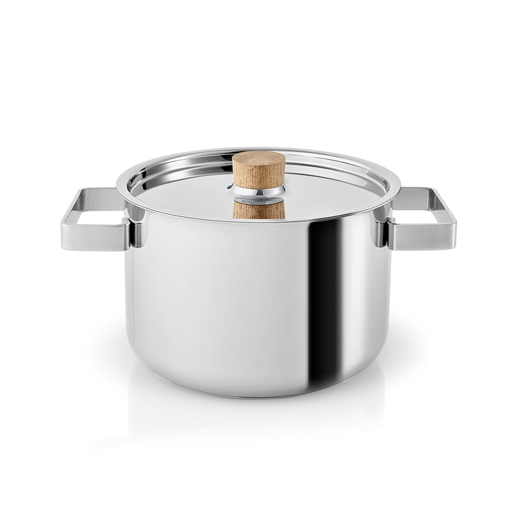 Nordic Kitchen Kochtopf 3 l von Eva Solo in Edelstahl / Eiche