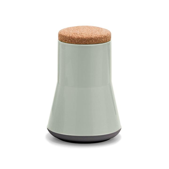 Established & Sons- Store Keramikbehälter mit Deckel H 21 cm, gloss grey / matt black