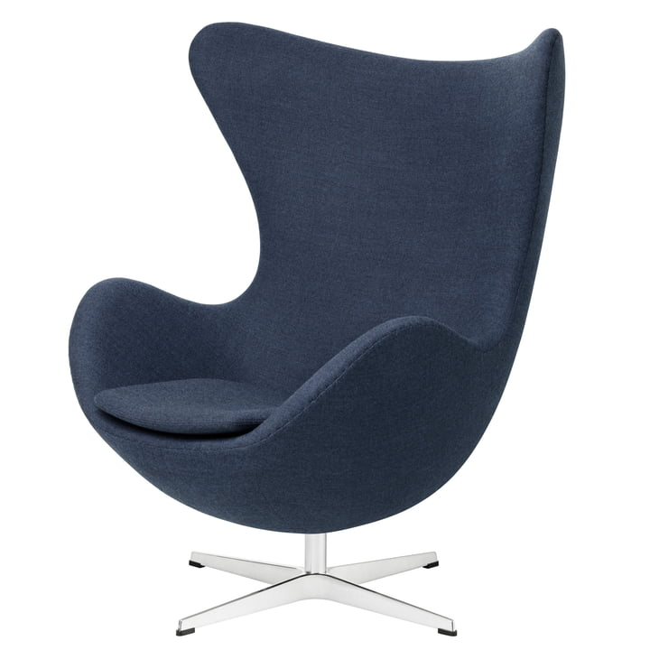 Egg Chair von Fritz Hansen in blau (FH 6001)