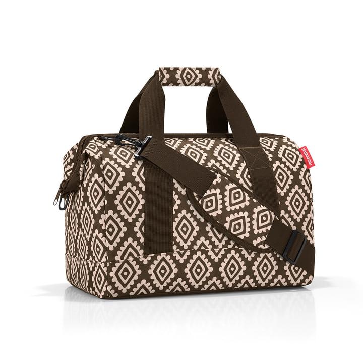 Braune Reisetasche mit Diamonds Mocha Muster