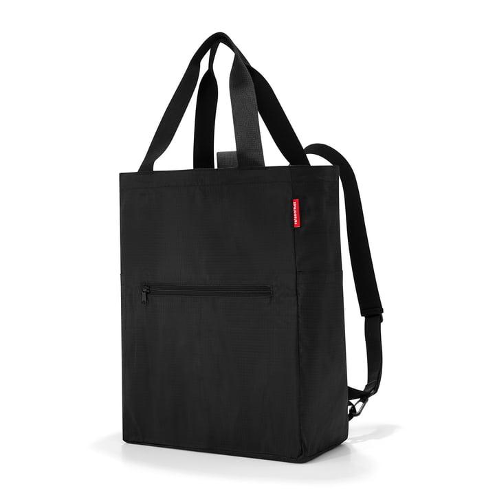 reisenthel - mini maxi 2-in-1 Tragetasche und Rucksack, schwarz