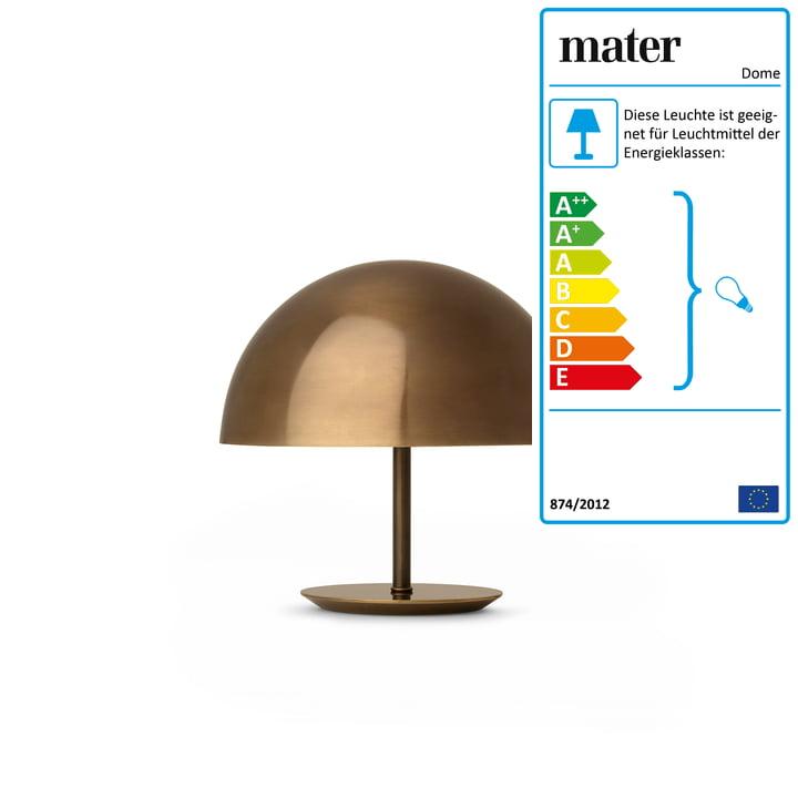 Mater - Dome Tischleuchte Ø 25 cm, Messing