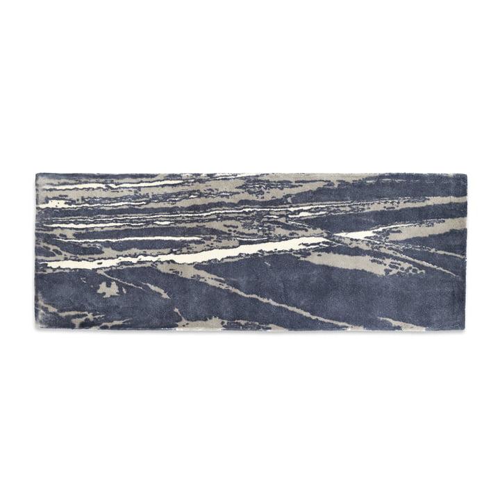 Mater - Info Teppich IR01 Air Traffic, 200 x 77 cm, dunkelgrau / taupe / ecru