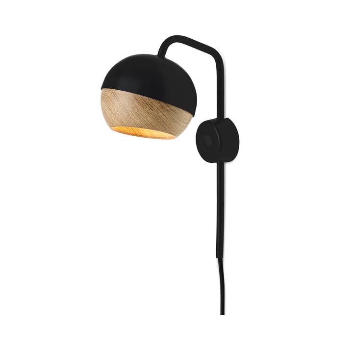 Mater - Ray Wandleuchte, schwarz