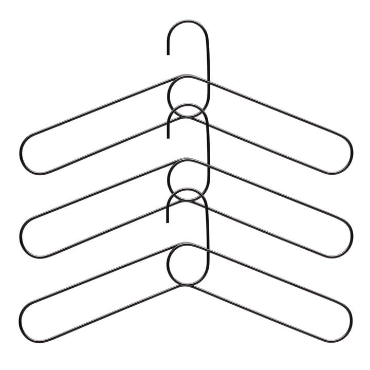 Loop Kleiderbügel (3er-Set), schwarz von Puik