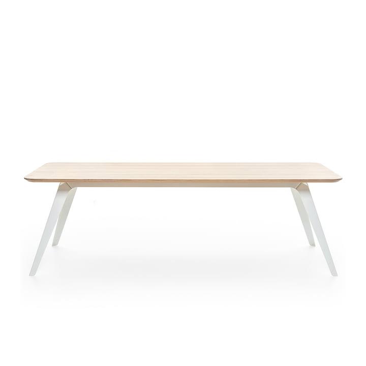 Fold Esstisch 200 × 95 cm, Eiche / weiß von Puik