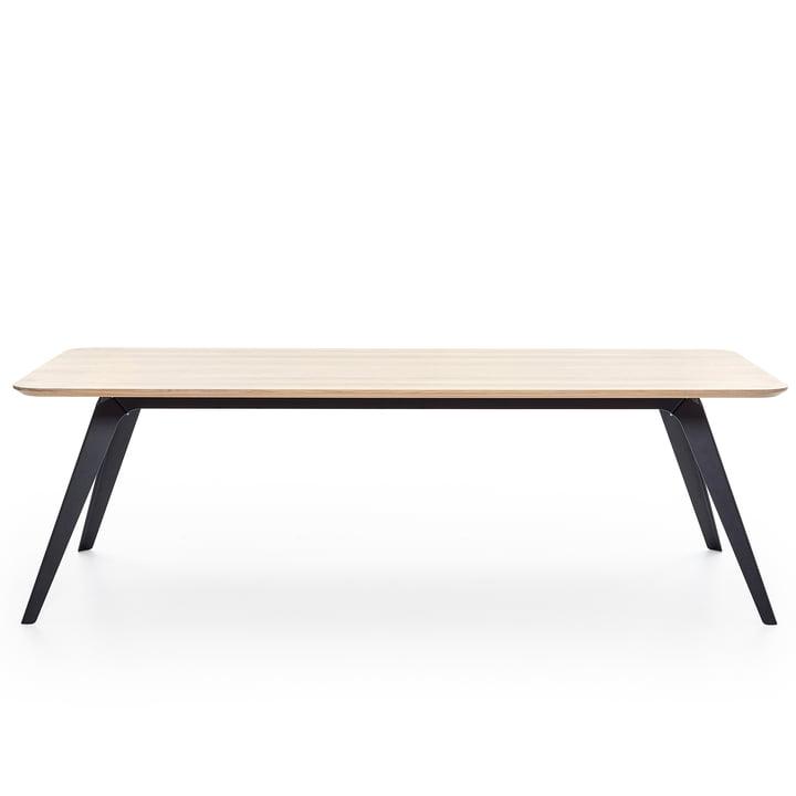 Fold Esstisch 240 × 100 cm, Eiche / schwarz von Puik