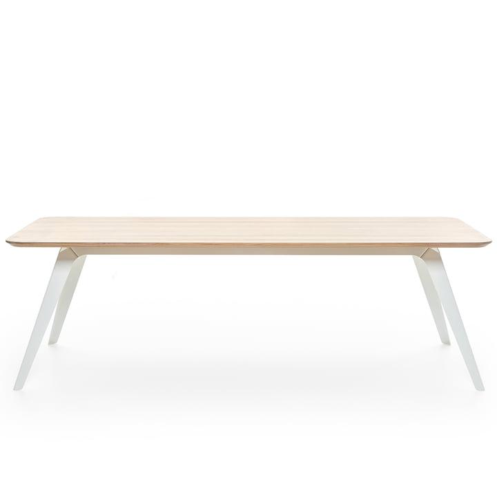 Fold Esstisch 240 × 100 cm, Eiche / weiß von Puik