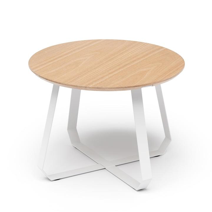 Shunan Beistelltisch Ø 55 x H 40 cm, Esche / weiß von Puik