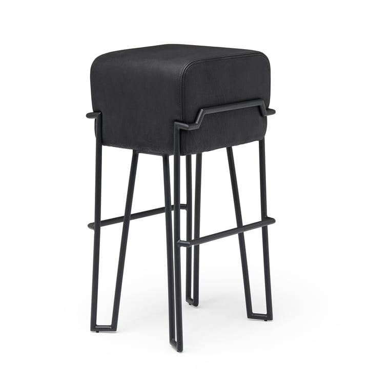 Bokk Barhocker H 76 cm, schwarz / Leder schwarz von Puik
