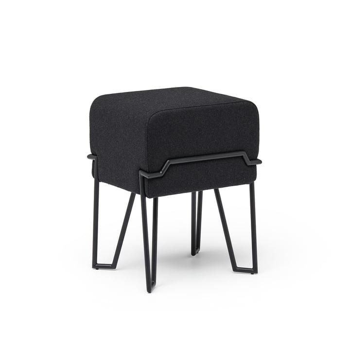 Bokk Hocker H 46 cm, schwarz / schwarz von Puik
