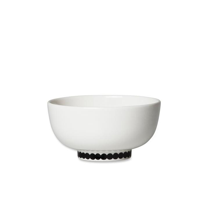 Oiva Räsymatto Schale, 300 ml in weiß / schwarz von Marimekko